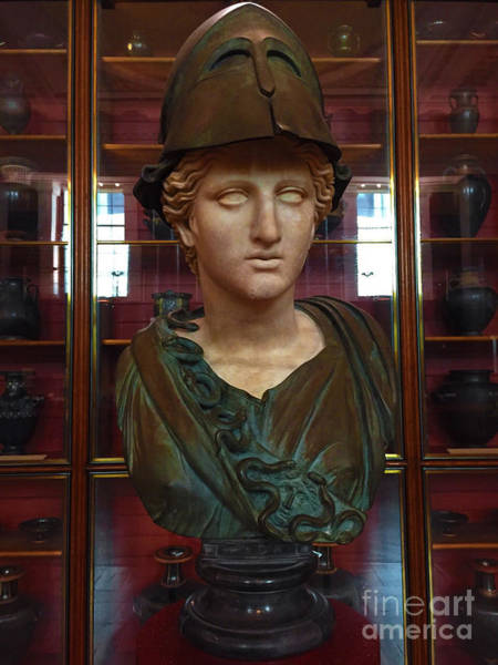 Chape Wall Art - Photograph - Copper Bust In Rome by Doc Braham