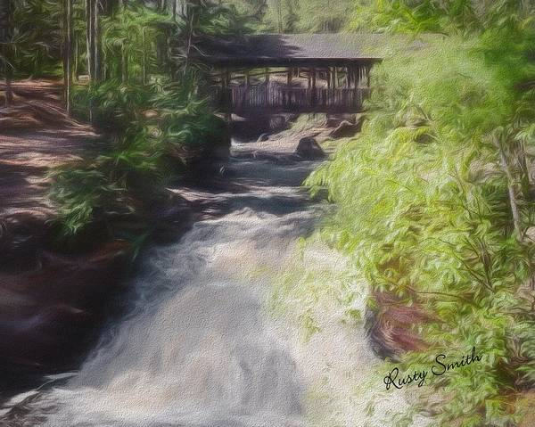 Digital Art - Copper Falls State Park Wisconsin. by Rusty R Smith