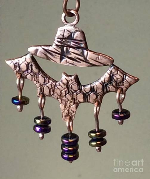Jewelry - Copper Pendant Bat Hat by Melany Sarafis