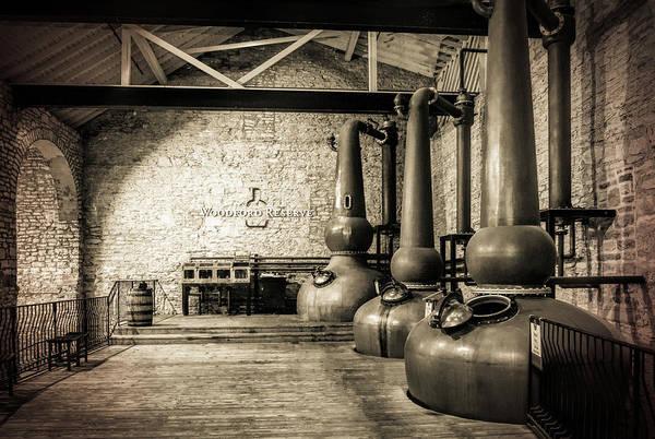 Barrel Photograph - Copper Pot Stills by Karen Varnas