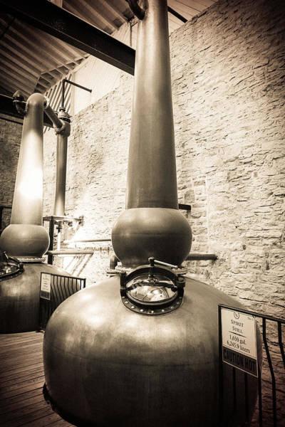Distillery Photograph - Copper Pots by Karen Varnas