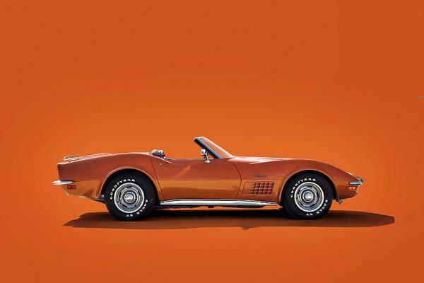 Wall Art - Digital Art - 1972 Corvette by Douglas Pittman