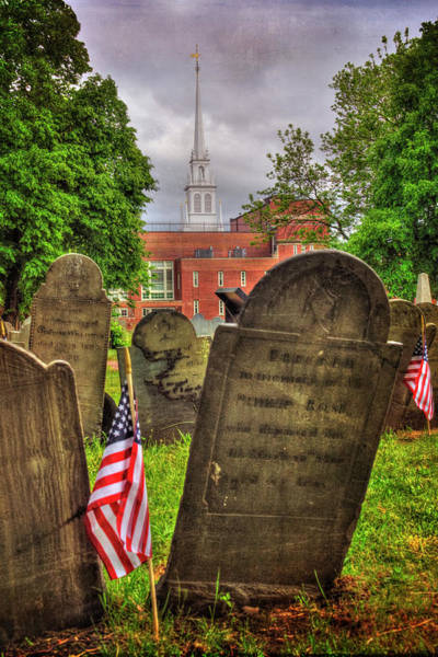 Wall Art - Photograph - Copp's Hill Burying Ground - North End Boston by Joann Vitali