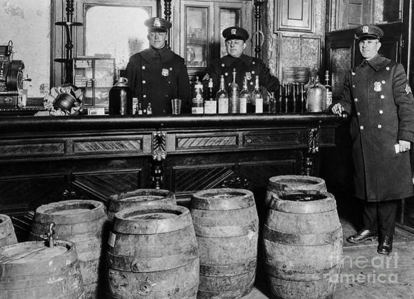 1920s Photograph - Cops At The Bar by Jon Neidert