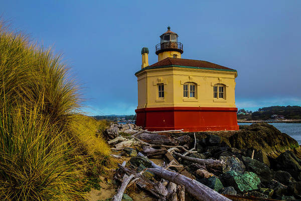 Wall Art - Photograph - Coquille River 2 Lighthouse by Garry Gay