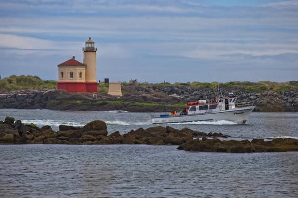 Photograph - Coquille River Light by Harold Rau