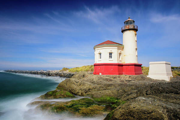 Photograph - Coquille River Light by Michael Blanchette