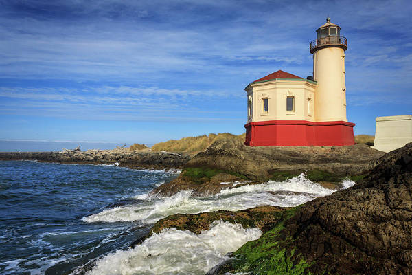 Photograph - Coquille River Lighthouse At Bandon by James Eddy