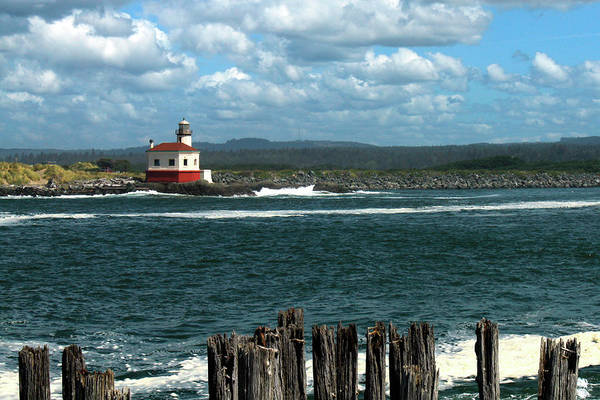Photograph - Coquille River Lighthouse by James Eddy