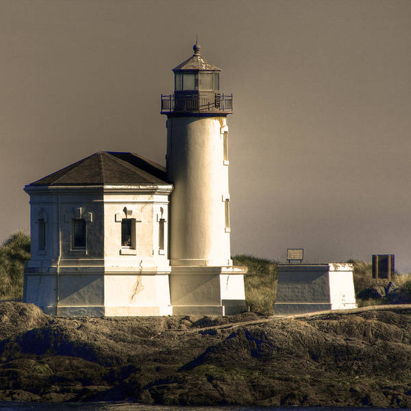 Photograph - Coquille River Lighthouse by Lee Santa