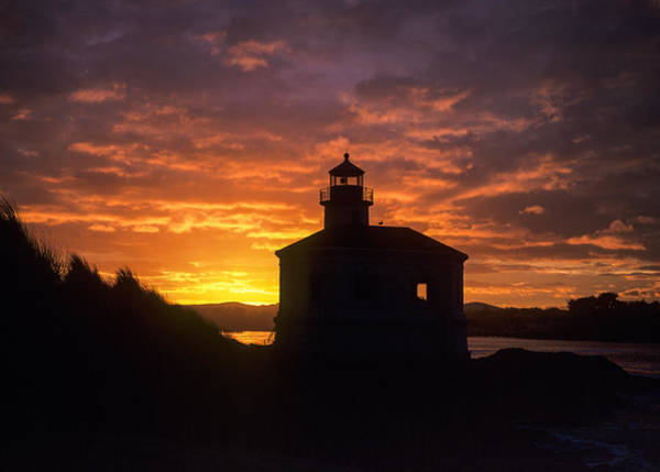 Photograph - Coquille River Lighthouse Silhouette by Robert Potts