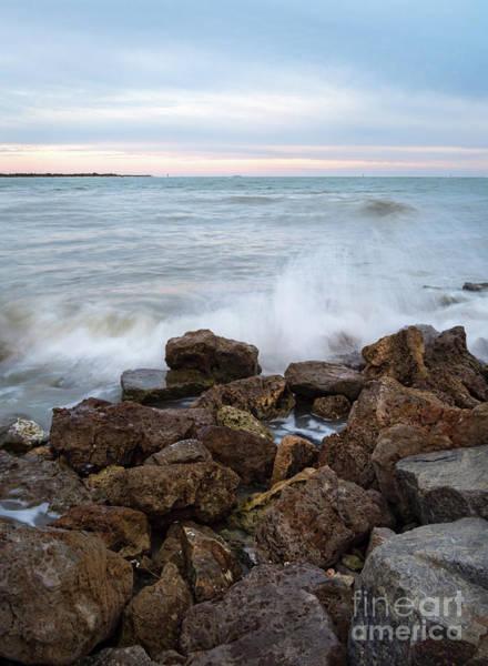 Photograph - Coquina Rocks, Pass-a-grille, St. Pete Beach, Fl  -61572 by John Bald