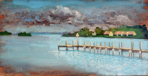 Sea Land Painting - Coquine Bay Docking by Catherine Twomey