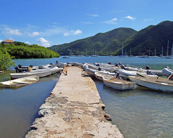 Photograph - Coral Bay Dinghy Dock by Pauline Walsh Jacobson