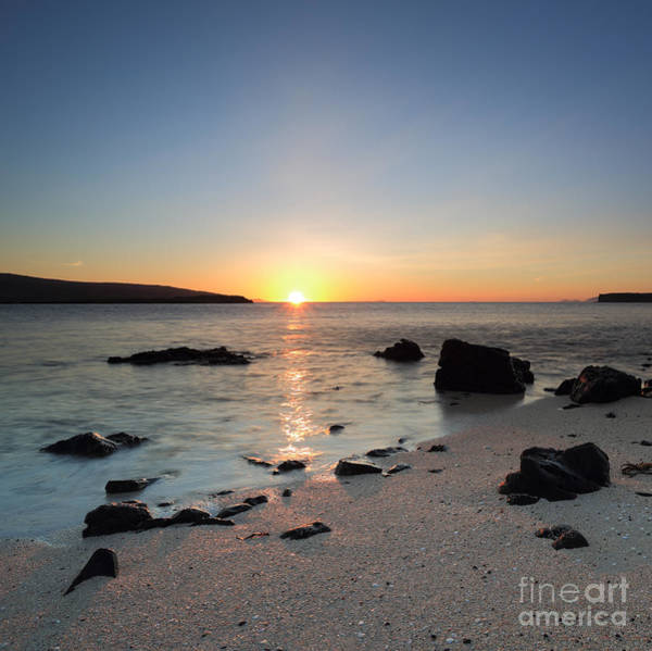 Photograph - Coral Beach At Sunset by Maria Gaellman