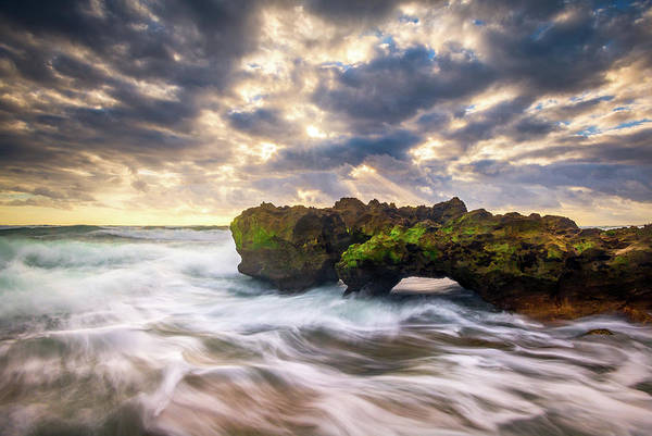 Beam Of Light Photograph - Coral Cove Jupiter Florida Seascape Beach Landscape Photography by Dave Allen