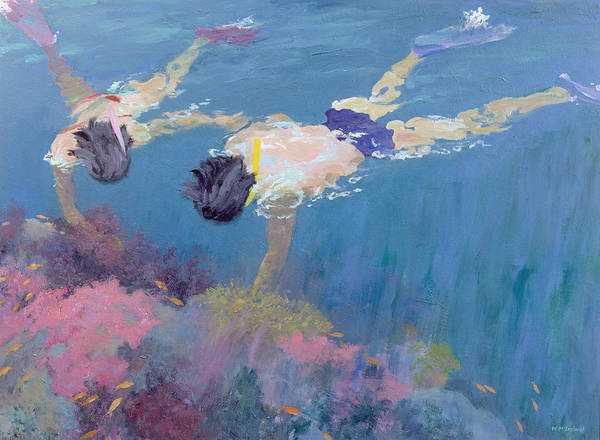 Scuba Diving Painting - Coral II  by William Ireland