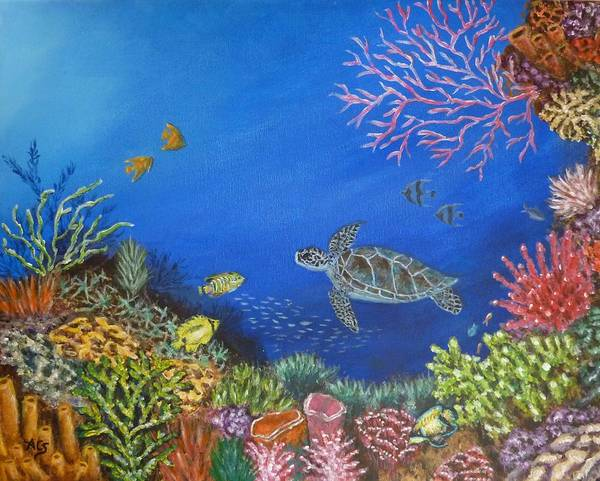 Painting - Coral Reef by Amelie Simmons