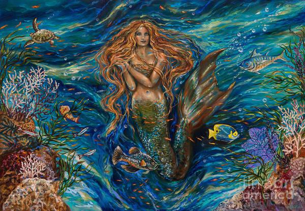 Coral Reef Rhapsody Toggled Art Print