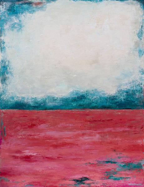 Pink Champagne Painting - Coral Sea by Katrina Nixon