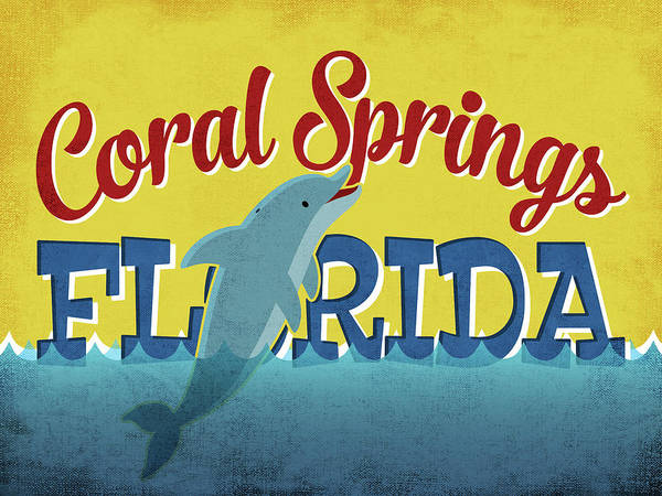 Advertisement Digital Art - Coral Springs Florida - Dolphin by Flo Karp