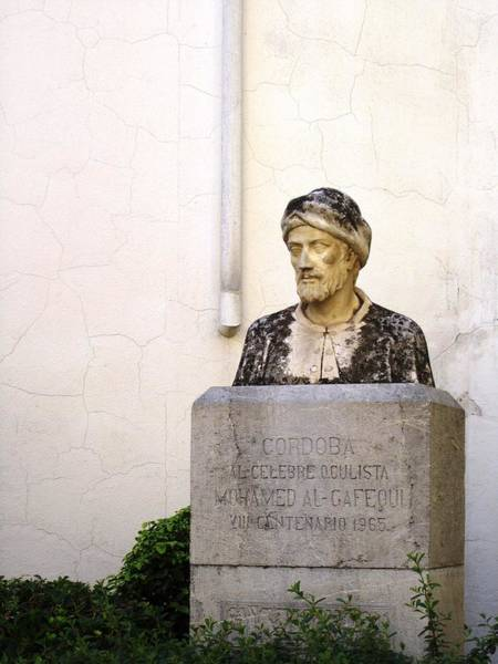 Photograph - Cordoba Bust Of Mohamed Al Gafequi Spain by John Shiron