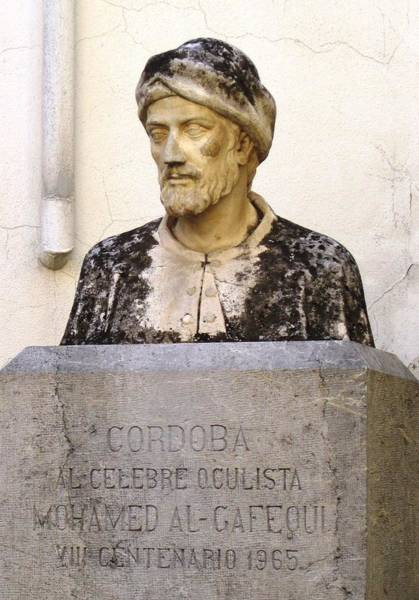 Photograph - Cordoba Statue Of Mohamed Al Gafequi Physician And Oculist Spain by John Shiron