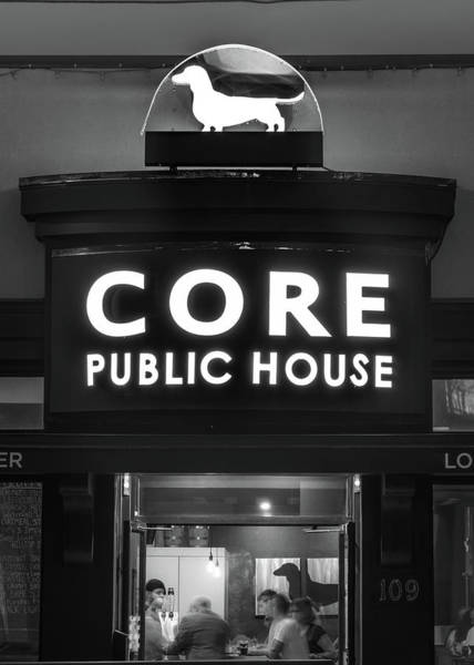 Core Wall Art - Photograph - Core Brewery Public House - Downtown Bentonville - Black And White by Gregory Ballos