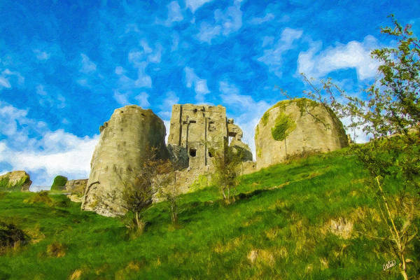 Corfe Painting - Corfe Castle Eng857799 by Dean Wittle