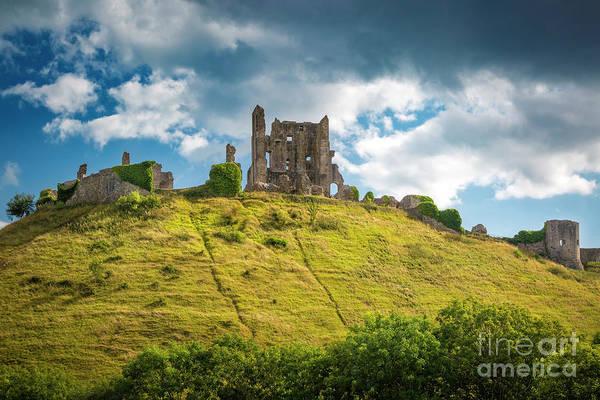 Photograph - Corfe Castle Ruins by Brian Jannsen