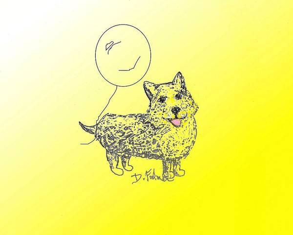 Drawing - Corgi by Denise F Fulmer