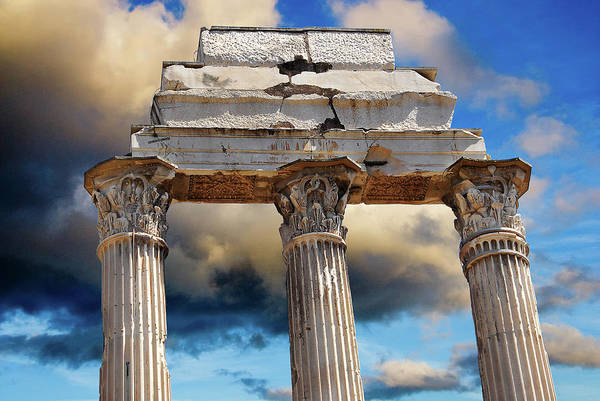 Photograph - Corinthian Column Triplets by Harry Spitz