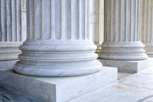 Solidity Photograph - Corinthian Columns, United States Supreme Court, Washington Dc by Paul Edmondson
