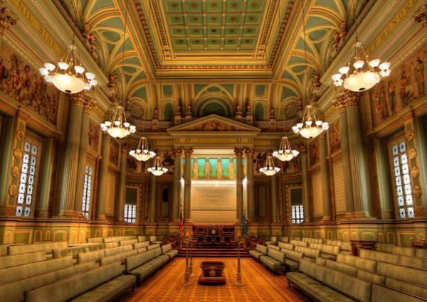 Knights Templar Photograph - Corinthian Hall - The Masonic Temple by Lori Deiter