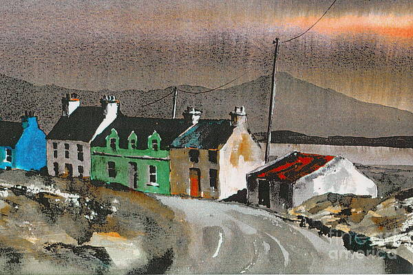 Painting - Cork ... Evening Sunset On Eyeries by Val Byrne