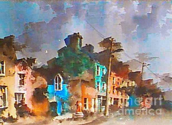 Painting - Cork.. Beara . Ardgroom Village by Val Byrne