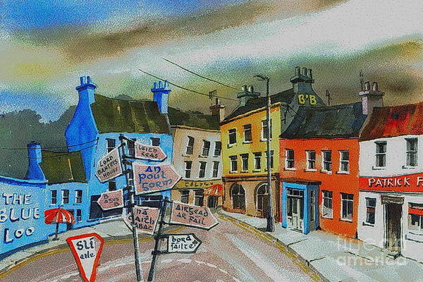 Painting - Cork... Glengarriff Signposts by Val Byrne