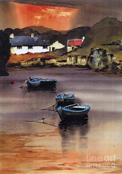 Painting - Cork.. Goleen Harbour by Val Byrne