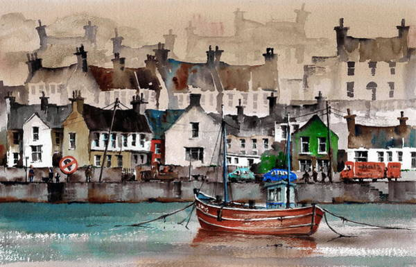 Painting - Cork Kinsale Quays by Val Byrne