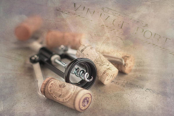 Kitchen Utensil Photograph - Corkscrew And Wine Corks by Tom Mc Nemar