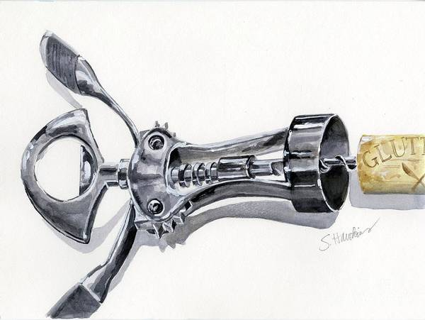 Wall Art - Painting - Corkscrew by Sheryl Heatherly Hawkins