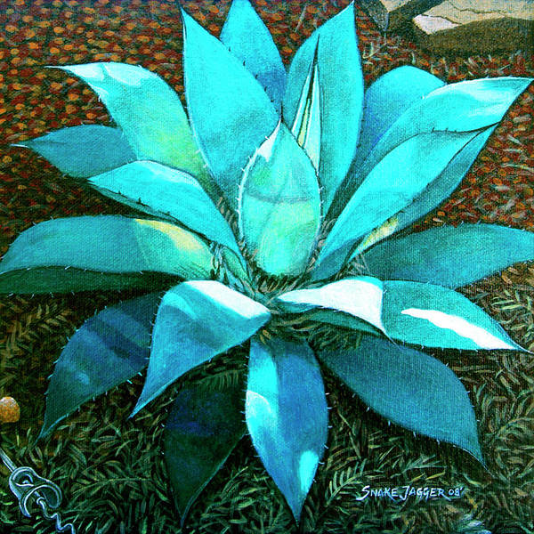 Agave Painting - Corkscrew by Snake Jagger