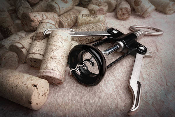 Kitchen Utensil Photograph - Corkscrew Wine Corks Still Life by Tom Mc Nemar