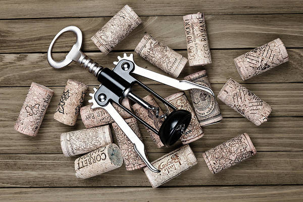 Wall Art - Photograph - Corkscrew With Wine Corks by Tom Mc Nemar