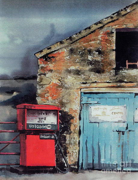 Painting - Cork..unleaded In Eyeries Beara by Val Byrne