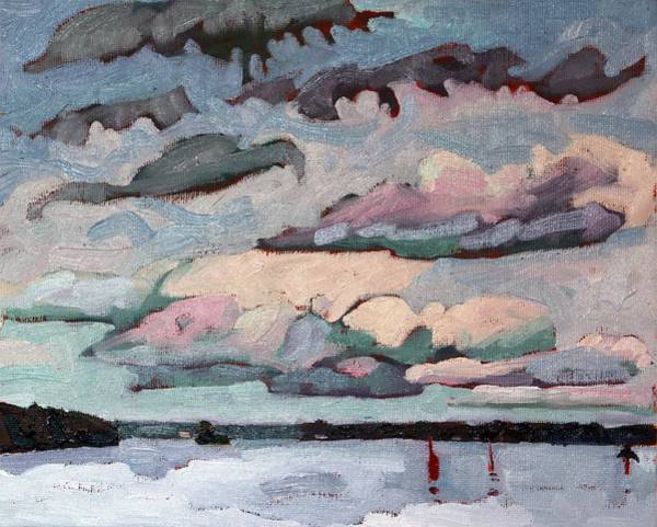 Stratocumulus Painting - Cormorant Cumulus by Phil Chadwick