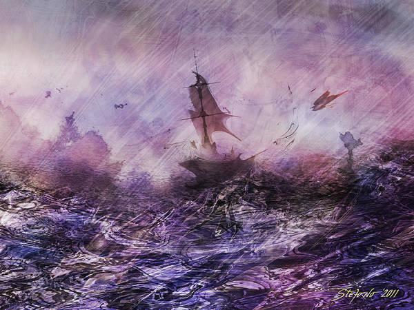 Shipwreck Digital Art - Cormorant by Stefano Popovski
