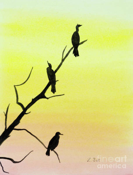 Painting - Cormorants by Laurel Best