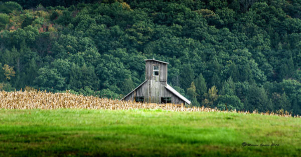 Storage Photograph - Corn Field Silo by Marvin Spates