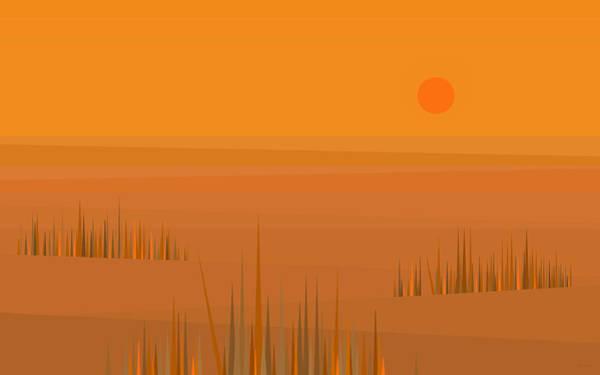 Digital Art - Corn Field Sunset by Val Arie